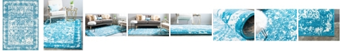 Bridgeport Home Mishti Mis3 Blue 9' x 12' Area Rug