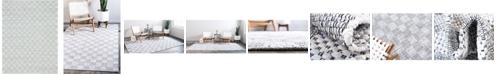 Bridgeport Home Jari Checkered Jar2 Ivory 8' x 10' Area Rug