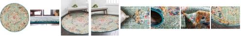 "Bridgeport Home Lorem Lor1 Green 3' 3"" x 3' 3"" Round Area Rug"