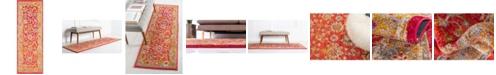 """Bridgeport Home Lorem Lor3 Red 2' 2"""" x 6' Runner Area Rug"""