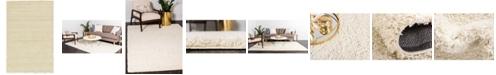 Bridgeport Home Exact Shag Exs1 Pure Ivory 5' x 8' Area Rug