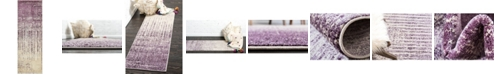 "Bridgeport Home Lyon Lyo2 Purple 2' 2"" x 6' Runner Area Rug"