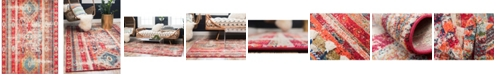 Bridgeport Home CLOSEOUT! Arcata Arc1 Fuchsia 8' x 10' Area Rug