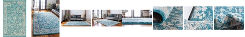 "Bridgeport Home Lorem Lor3 Turquoise 3' 3"" x 5' 3"" Area Rug"