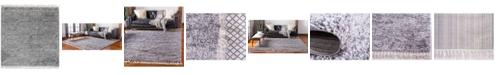 Bridgeport Home Lochcort Shag Loc3 Gray 8' x 8' Square Area Rug