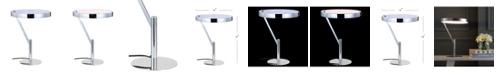 "JONATHAN Y Owen 18"" Integrated LED Metal Table Lamp"