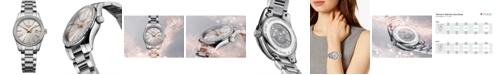 Longines Women's Swiss Conquest Classic Diamond (5/8 ct. t.w.) Stainless Steel Bracelet Watch 29mm