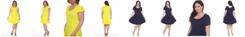 White Mark Women's Plus Size Cara Dress