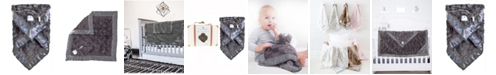 Zalamoon Plush Luxie Pocket Blanket with Pocket and Strap Holder for Pacifier or Toy
