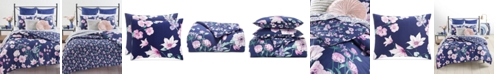 Martha Stewart Collection Midnight Floral 3-Pc. Comforter Sets, Created for Macy's