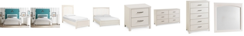 Furniture  Ashford White Bedroom Collection