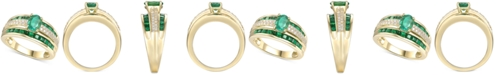 Macy's Emerald (1-7/8 ct. t.w.) & Diamond (1/4 ct. t.w.) Ring in 14k Gold (Also in Certified Ruby & Sapphire)