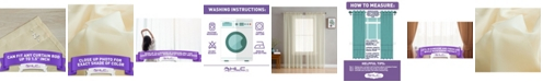 HLC.me Lumino by Canberra Sheer Voile Rod Pocket Curtain Panels - 54 W x 63 L - Set of 2