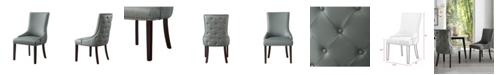 INSPIRED HOME Oscar Upholstered Tufted Dining Chair with Nailhead Trim Set of 2