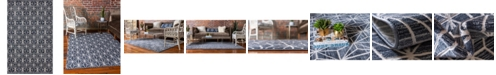Jill Zarin Fifth Avenue Uptown Jzu002 Navy Blue 5' x 8' Area Rug