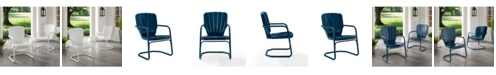 Crosley Ridgeland Metal Chair Set Of 2