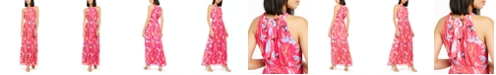 INC International Concepts INC Floral-Print Pleated Maxi Dress, Created For Macy's