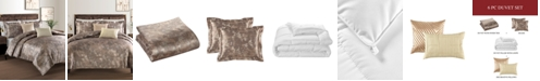 Sunham Metallic Jacquard 6-Pc. King Duvet Cover with Filler Set