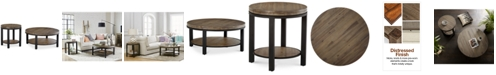 Furniture Canyon Round Table Set, 2-Pc. Set (Coffee Table & End Table), Created for Macy's