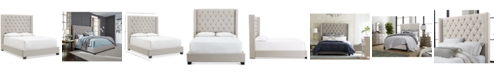 Furniture Monroe Upholstered Queen Bed, Created for Macy's