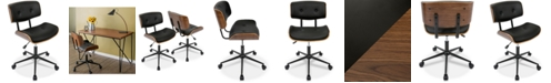Lumisource Lombardi Faux Leather Office Chair