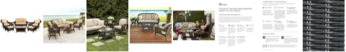Furniture Monterey Outdoor Wicker 8-Pc. Seating Set with Sunbrella® Cushions  (1 Loveseat, 2 Club Chairs, 2 Ottomans, 1 Coffee Table and 2 End Tables), Created for Macy's