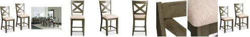 Furniture Omaha X-Back Bar Stool (Set Of 2)