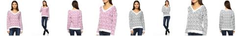 White Mark Women's Leopard Sweater