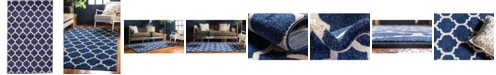 "Bridgeport Home Arbor Arb1 Dark Blue 3' 3"" x 5' 3"" Area Rug"
