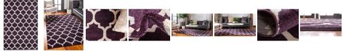 Bridgeport Home Arbor Arb1 Purple 6' x 9' Area Rug