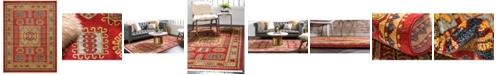 Bridgeport Home Harik Har6 Red 9' x 12' Area Rug