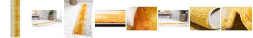 "Bridgeport Home Newwolf New4 Yellow 2' 7"" x 10' Runner Area Rug"