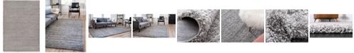 Bridgeport Home Exact Shag Exs1 Cloud Gray 7' x 10' Area Rug