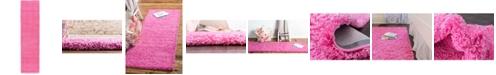 "Bridgeport Home Exact Shag Exs1 Taffy Pink 2' 6"" x 10' Runner Area Rug"