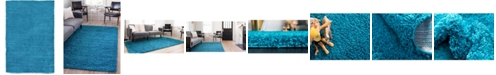 Bridgeport Home Exact Shag Exs1 Turquoise 7' x 10' Area Rug