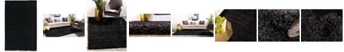 Bridgeport Home Exact Shag Exs1 Jet Black 5' x 8' Area Rug
