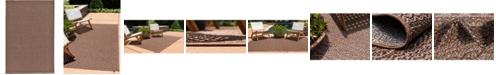 "Bridgeport Home Pashio Pas6 Brown 5' 3"" x 8' Area Rug"