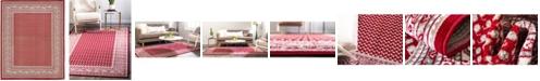 Bridgeport Home Axbridge Axb1 Red 8' x 10' Area Rug