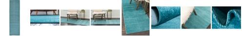 """Bridgeport Home Axbridge Axb3 Teal 2' 9"""" x 9' 10"""" Runner Area Rug"""