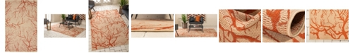 Bridgeport Home Pashio Pas6 Beige/Terracotta 5' x 8' Area Rug