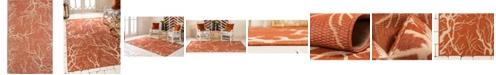 Bridgeport Home Pashio Pas6 Terracotta 5' x 8' Area Rug