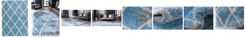 "Bridgeport Home Latisse Shag Lts1 Light Blue 8' x 11' 2"" Area Rug"