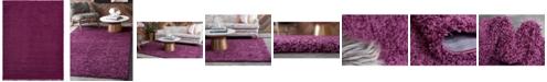 Bridgeport Home Exact Shag Exs1 Eggplant Purple 12' x 15' Area Rug