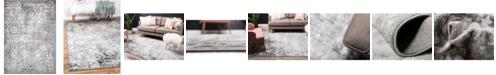 Bridgeport Home Basha Bas5 Dark Gray 4' x 6' Area Rug