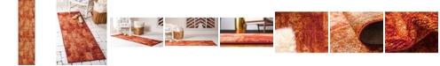 "Bridgeport Home Jasia Jas07 Terracotta 2' 6"" x 10' Runner Area Rug"
