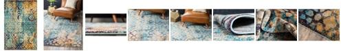Bridgeport Home Brio Bri1 Blue 4' x 6' Area Rug