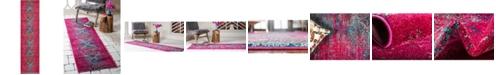 "Bridgeport Home Brio Bri6 Pink 2' 7"" x 10' Runner Area Rug"