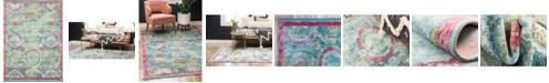 Bridgeport Home Kenna Ken4 Turquoise 10' x 13' Area Rug