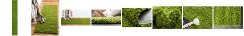 """Bridgeport Home Exact Shag Exs1 Grass Green 2' 6"""" x 16' 5"""" Runner Area Rug"""