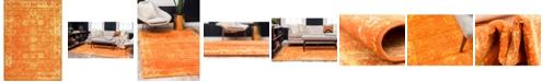 Bridgeport Home Basha Bas1 Orange 7' x 10' Area Rug